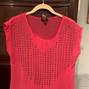 Cupid small polyester pink cami and top